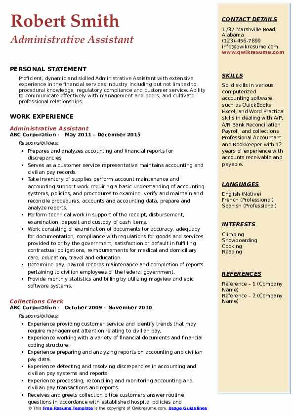 administrative assistant resume samples qwikresume skills and abilities for pdf rigger Resume Skills And Abilities For Administrative Assistant Resume