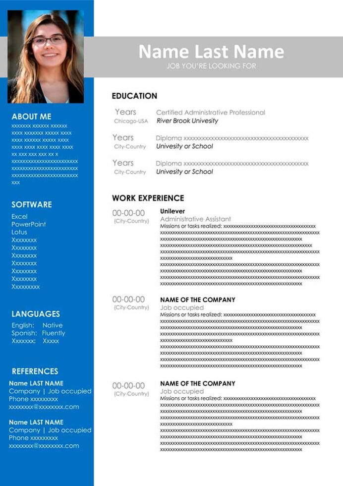 administrative assistant resume template free microsoft Resume Administrative Assistant Resume Template Microsoft Word Free