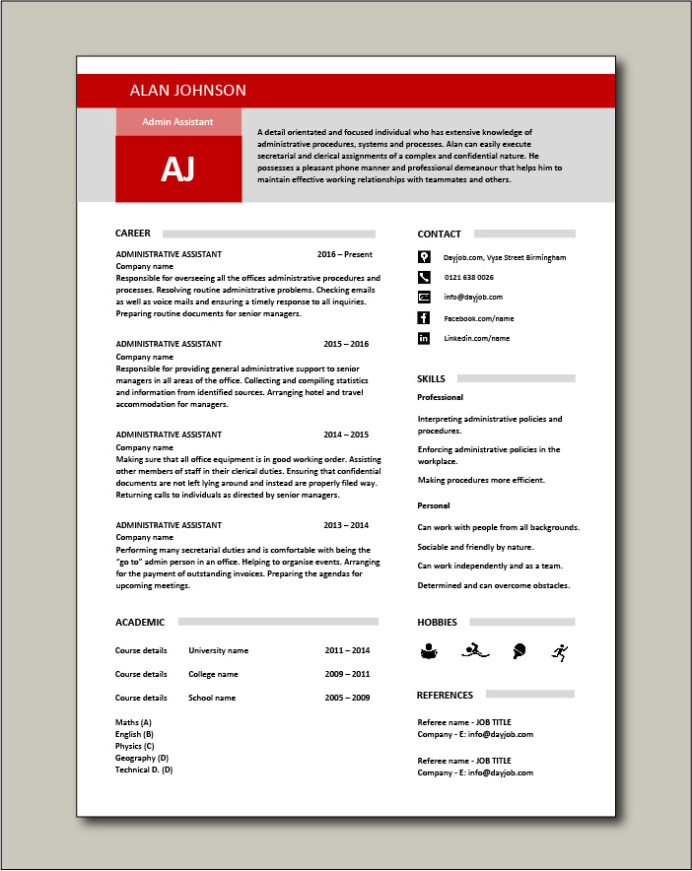 administrative assistant resume template microsoft word free Resume Administrative Assistant Resume Template Microsoft Word Free