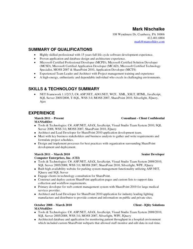 android developer resume sample dissertation writing services silverlight professional Resume Silverlight Developer Resume