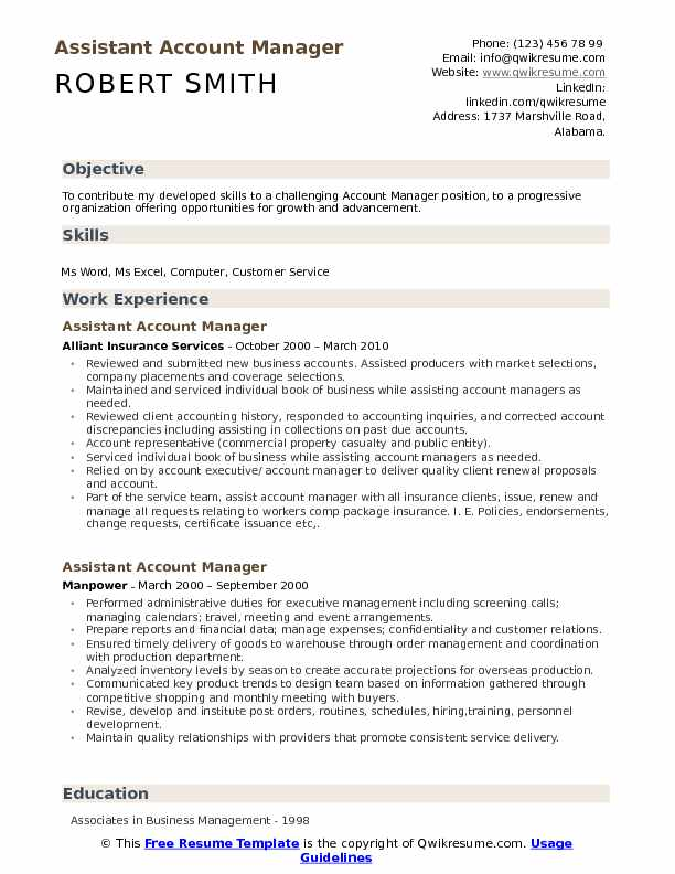 assistant account manager resume samples qwikresume responsibilities pdf fun templates Resume Account Manager Responsibilities Resume