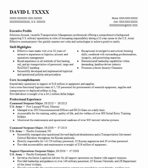 battalion command sergeant resume example army hope north carolina first civilian Resume First Sergeant Civilian Resume