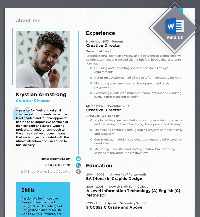 best creative resume cv templates printable digital portfolio director template temp Resume Digital Portfolio Resume
