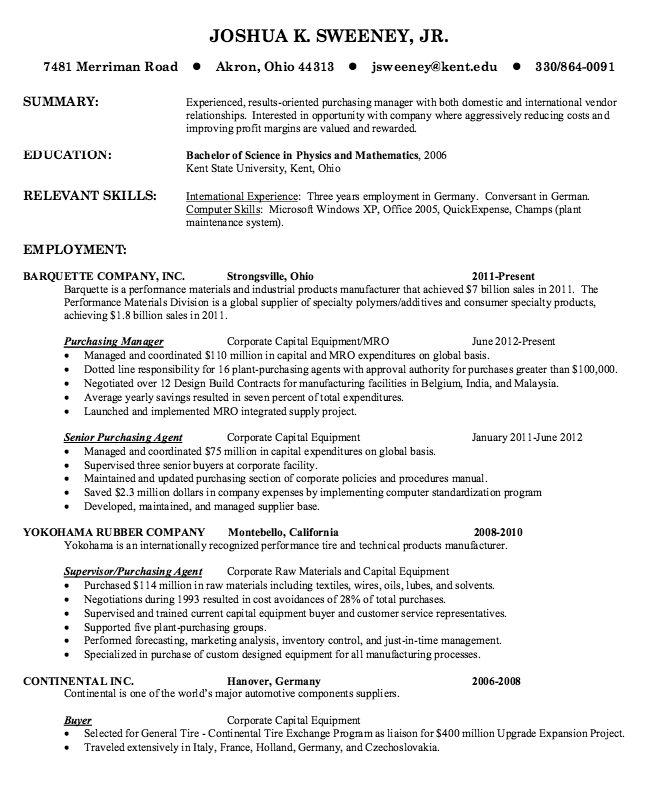best cv for purchase manager professional procurement example purchasing resume builder Resume Purchasing Manager Resume