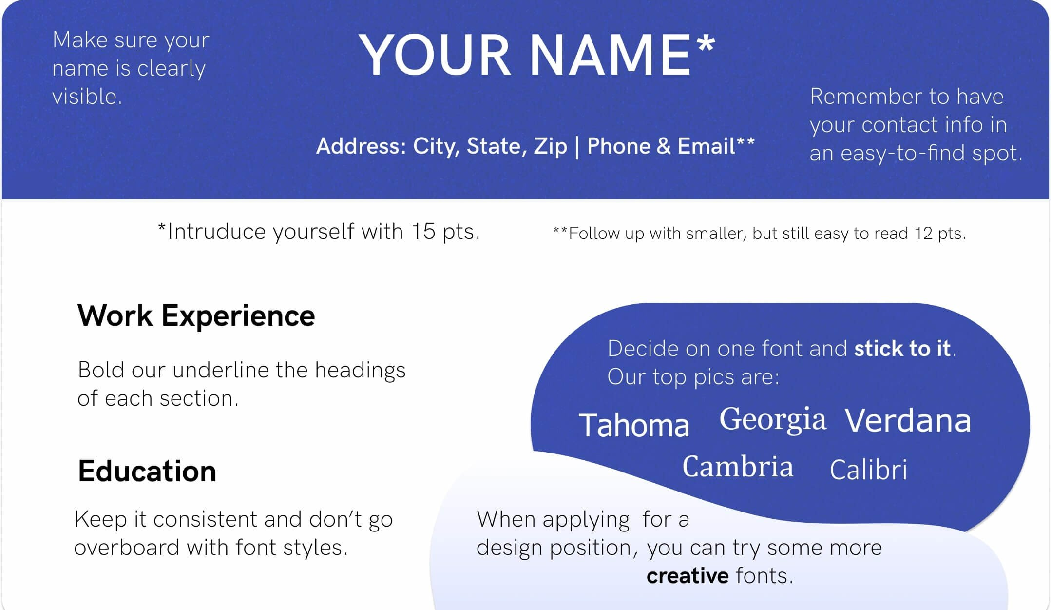 best font for resume size standard professional pairings most common fonts example Resume Most Common Resume Font