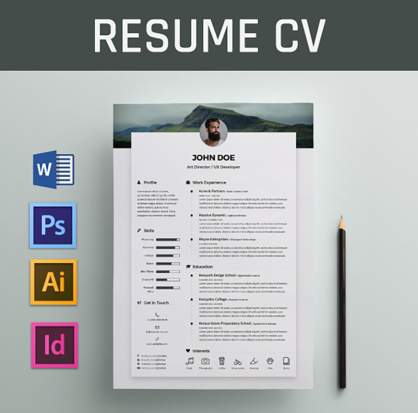best free modern resume templates clean cv design formats cool behance objective for Resume Cool Resume Templates Free Download