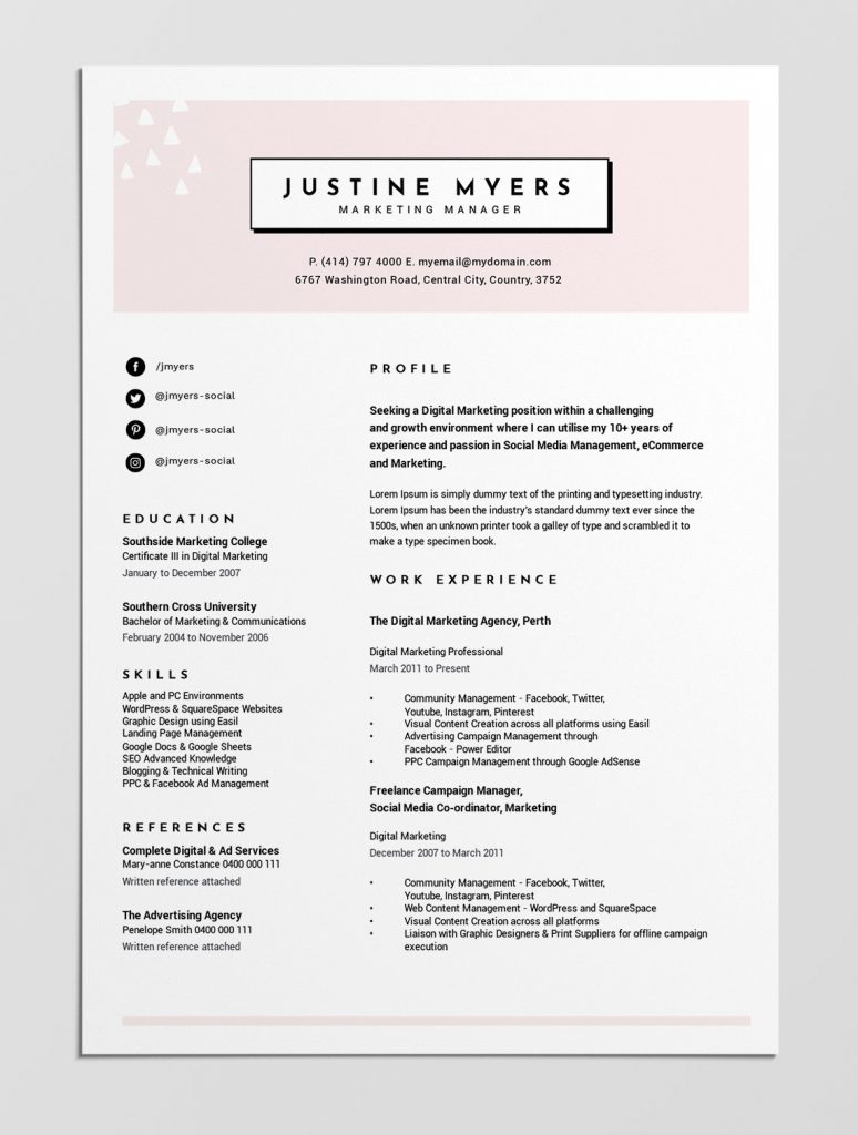 best free resume templates tips on to stand out easil template with reference section Resume Resume Template With Reference Section