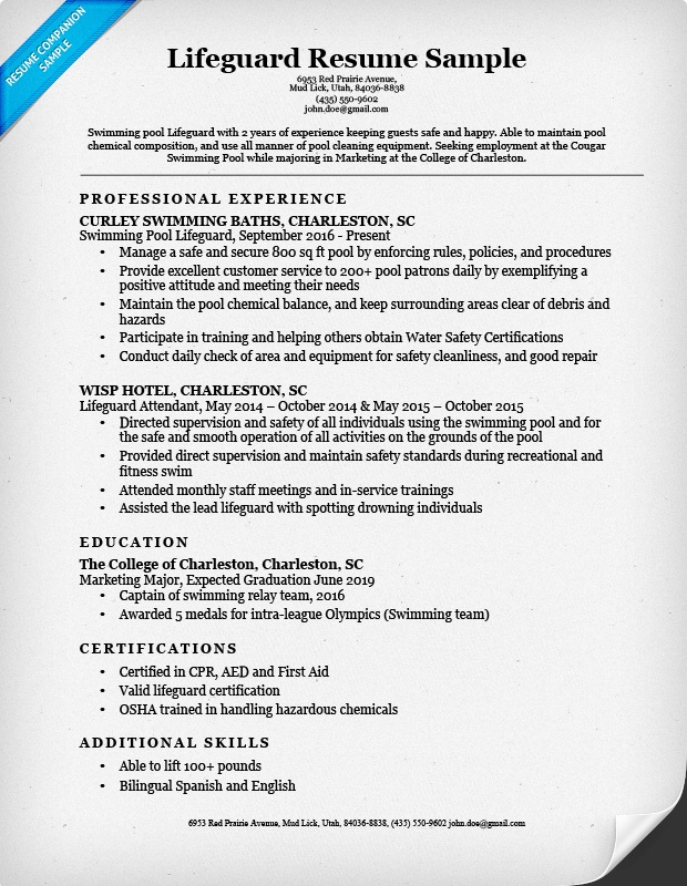 best lifeguard resume sample templates wisestep admin staff federal service workday can Resume Lifeguard Resume Sample