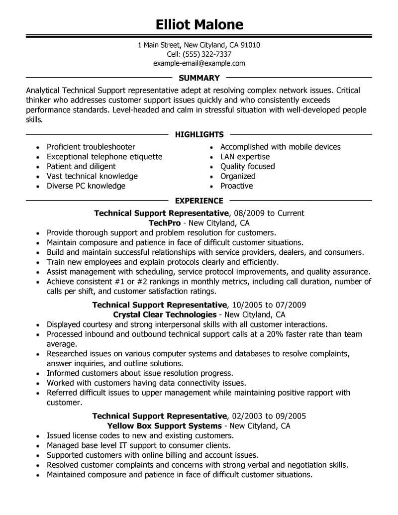 best technical support resume example livecareer executive computers technology sample Resume Technical Executive Resume