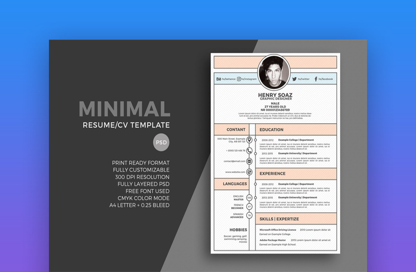 best web graphic designer resume cv templates examples for sample word format free envato Resume Graphic Designer Resume Sample Word Format Free Download