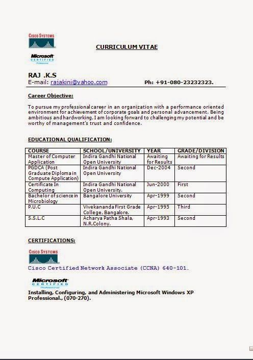 bsc microbiology resume format for freshers result awaited goals examples back office Resume Result Awaited Resume Format