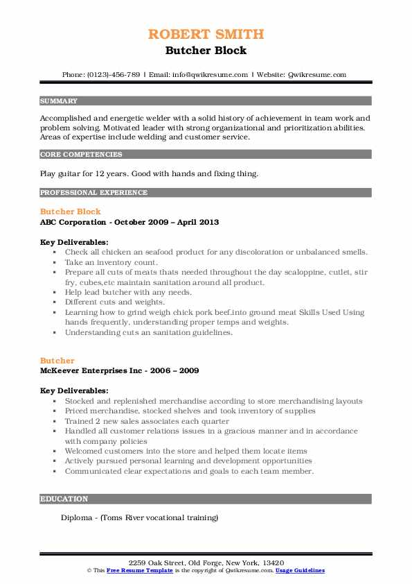 butcher resume samples qwikresume meat cutter pdf warehouse copy and paste accounts Resume Butcher Meat Cutter Resume