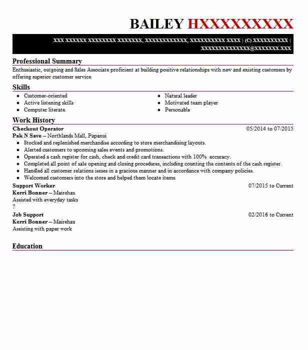 checkout operator resume example new world supermarket duties writing rules for teenager Resume Checkout Operator Duties Resume