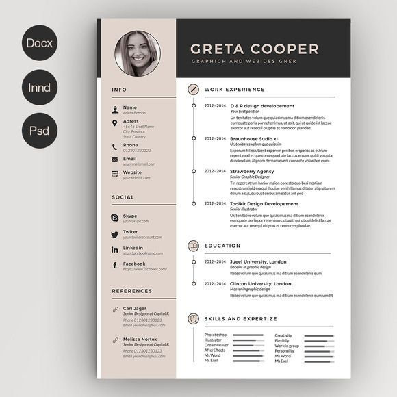 clean cv resume ii graphic design creative templates infographic beginner fashion Resume Beginner Fashion Designer Resume