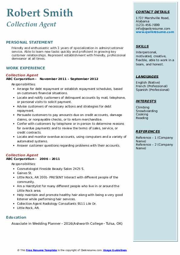 collection agent resume samples qwikresume little service pdf people analytics research Resume Little Rock Resume Service