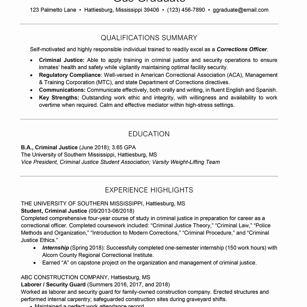college freshman resume template new for students and graduates in student sample recent Resume Sample Resume For Recent College Graduate Criminal Justice