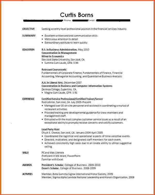 college student resume no experience cover letter job examples format sample for with Resume Sample Resume For College Student With Little Experience