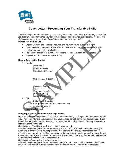 cover letter sample afs wiki resume business template hardware nice templates traditional Resume Resume Cover Letter Wiki