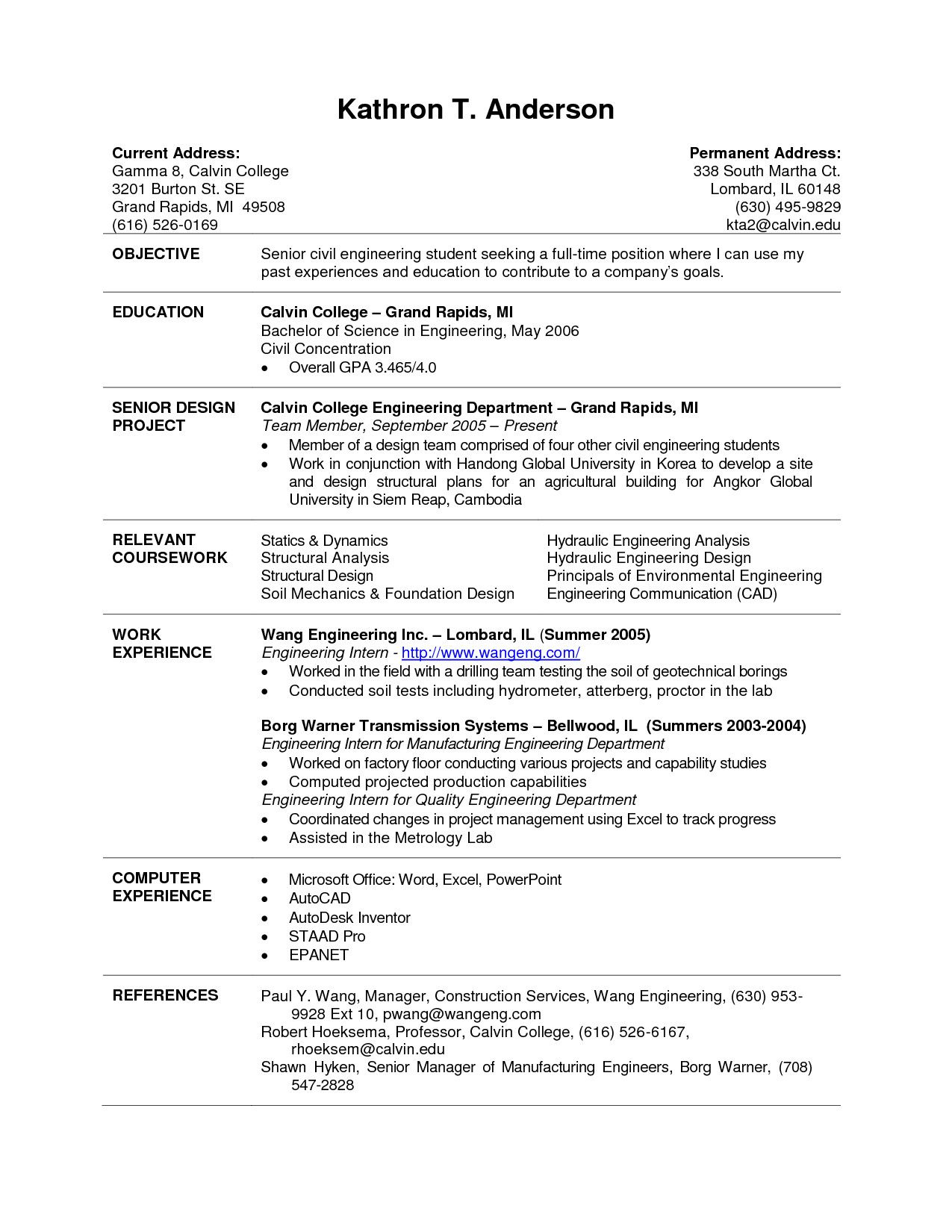 current college student resume template internship examples graduate sample for web Resume College Graduate Resume Examples
