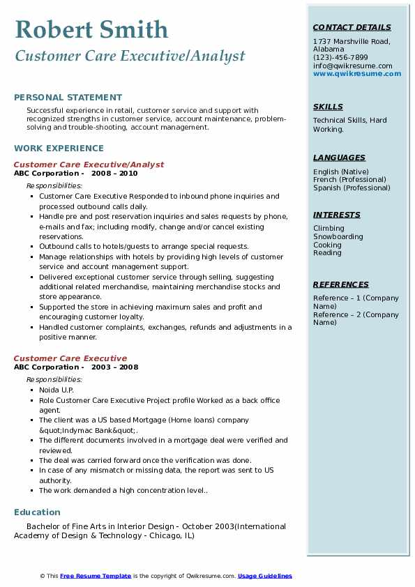 customer care executive resume samples qwikresume format for experienced service pdf Resume Resume Format For Experienced Customer Service Executive