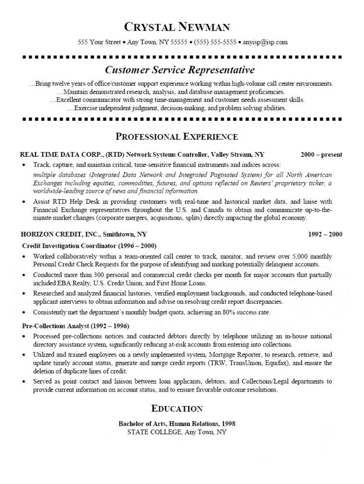 customer service representative resume qualifications for can you make on linkedin Resume Qualifications For Customer Service Representative Resume