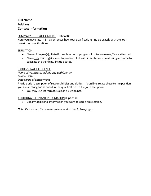 cv sample any additional information you would like on your Resume Add Any Additional Information You Would Like On Your Resume