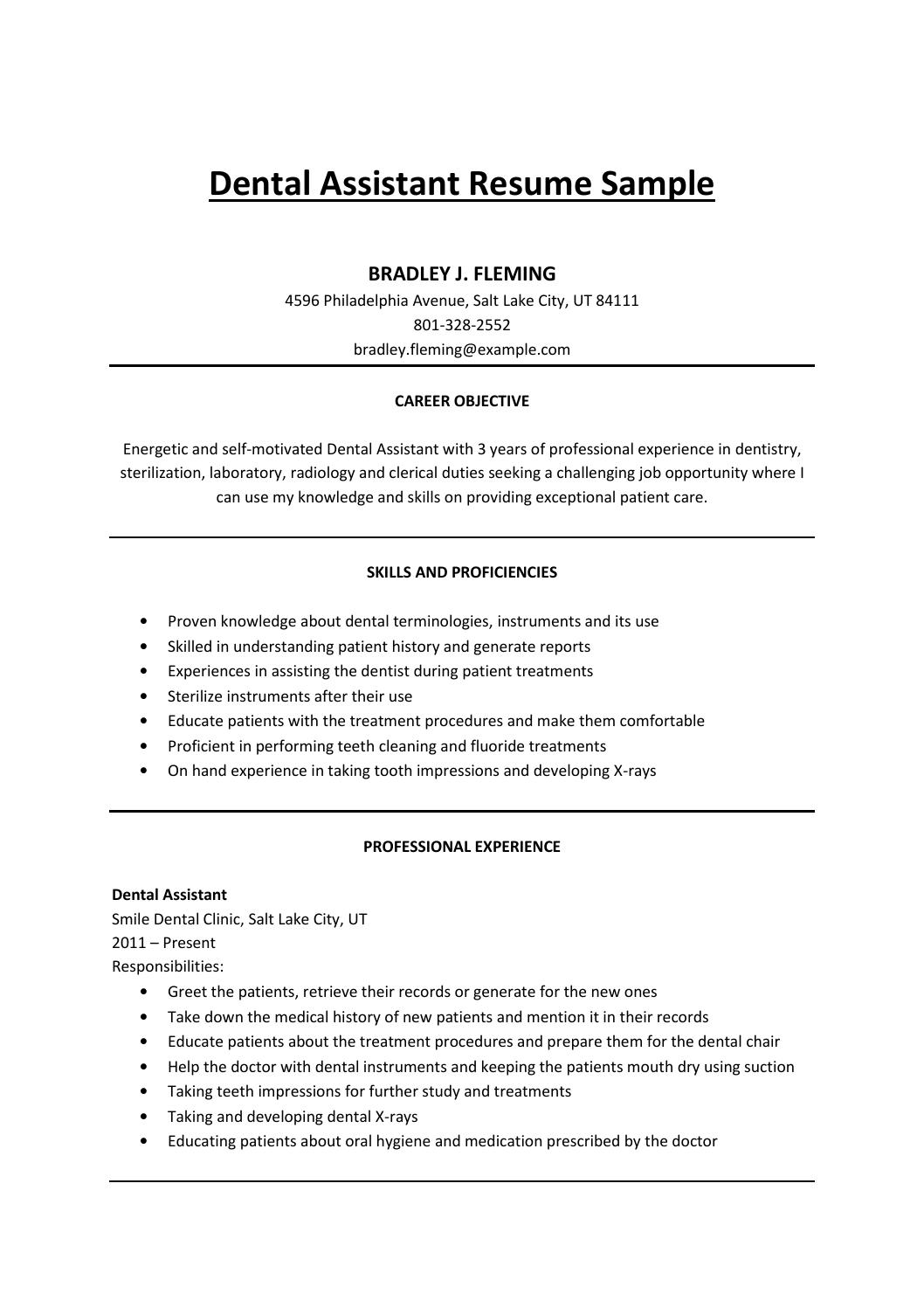 dental assistant resume sample by mark issuu objective samples raft guide banking profile Resume Dental Assistant Resume Objective Samples