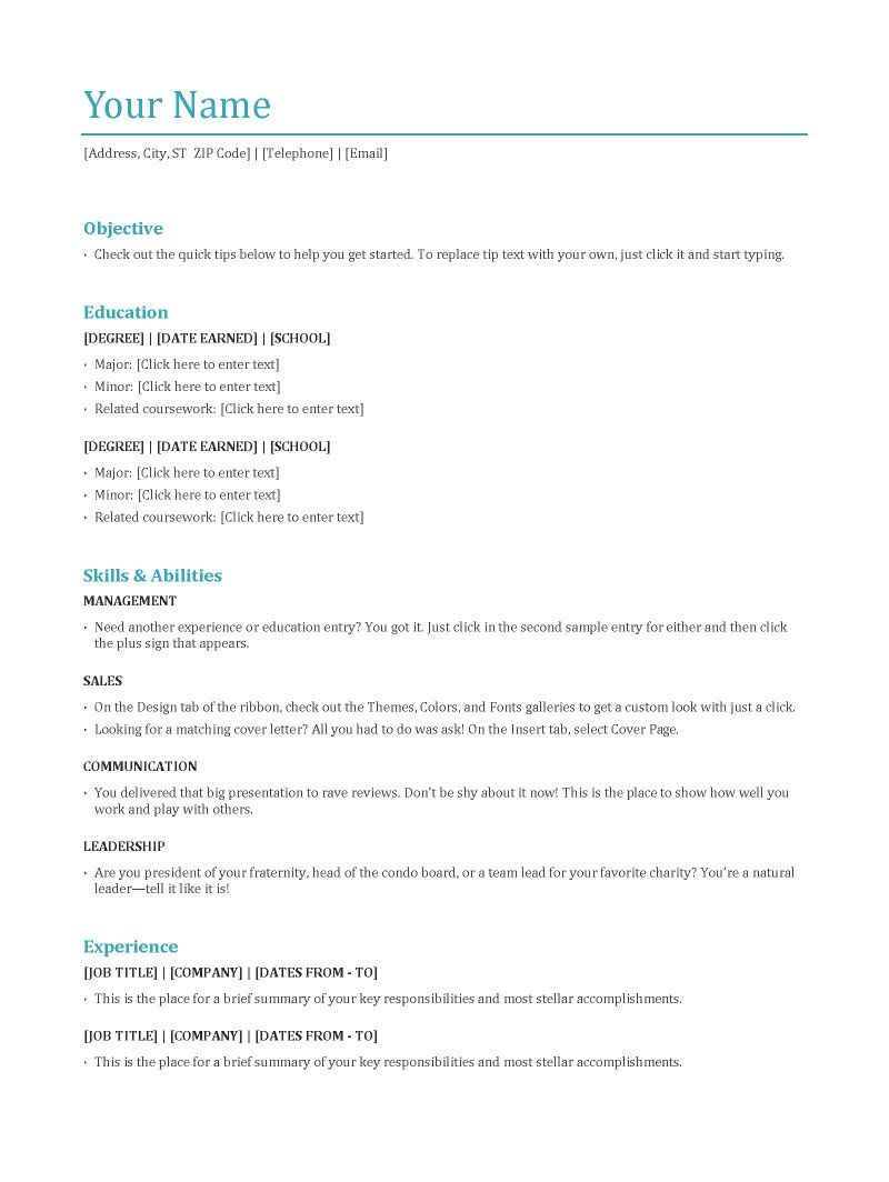 difference between main resume formats and when the should used writing format examples Resume Most Used Resume Format