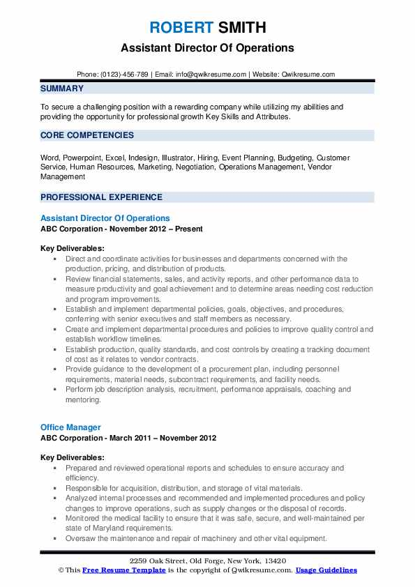 director of operations resume samples qwikresume sample pdf quantifying examples best Resume Director Of Operations Resume Sample