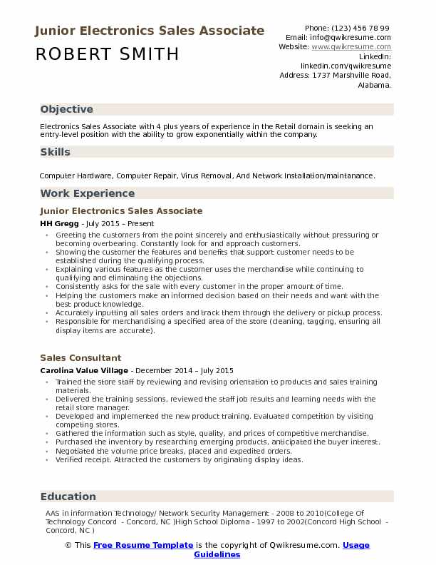 electronics associate resume samples qwikresume costco front end assistant pdf ratcliffe Resume Costco Front End Assistant Resume