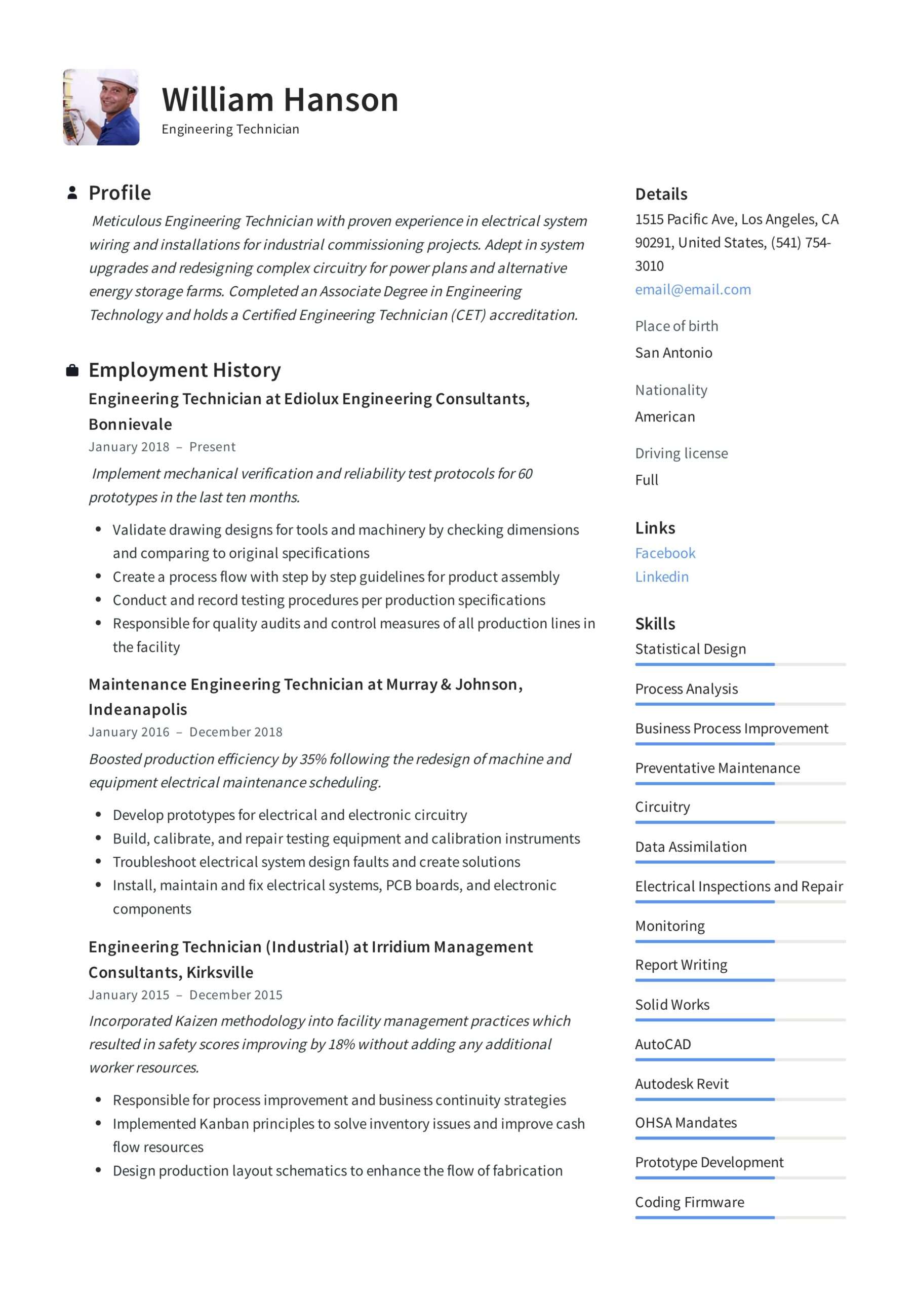 engineering technician resume writing guide templates civil technologist sample talend on Resume Civil Engineering Technologist Resume Sample