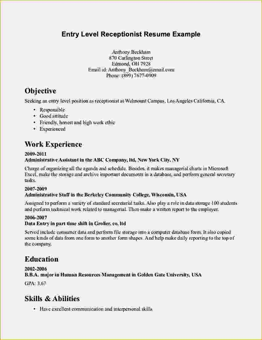 entry level accounting resume beautiful objective examples in cover letter for medical Resume Examples Of Resume Objectives Entry Level