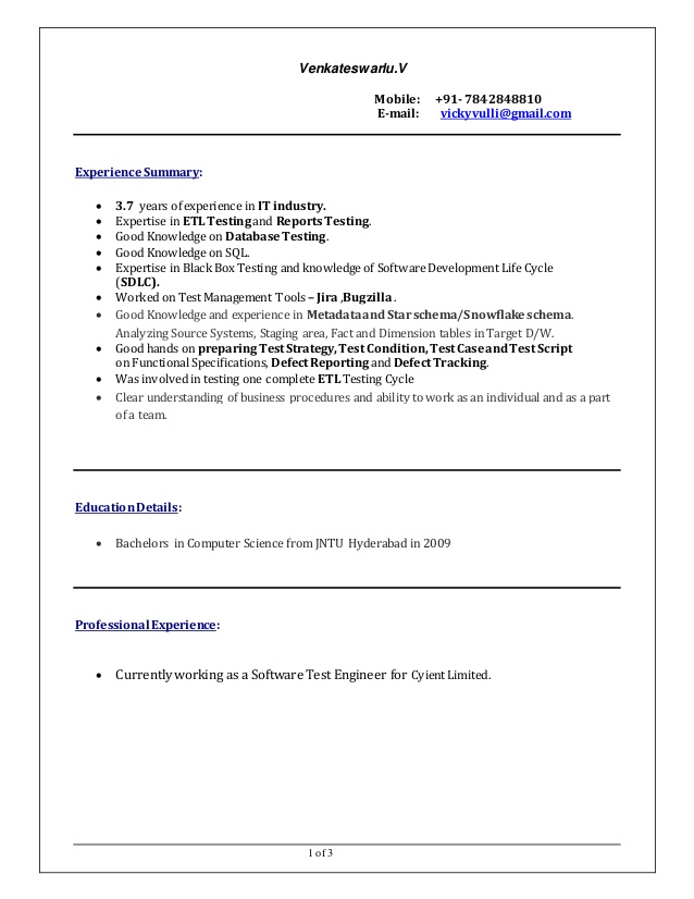 Best Software Testing Resume Example Livecareer Samples For Years Experience It Software Testing Resume Samples For 5 Years Experience Resume College Freshman Resume For Internship Resume Categories Skills Personal Highlights On A
