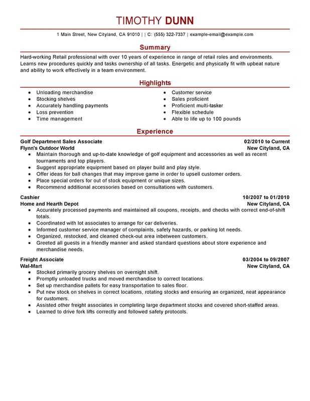 for resume samples retail format professional summary roundup uh detail oriented Resume Professional Summary For Retail Resume
