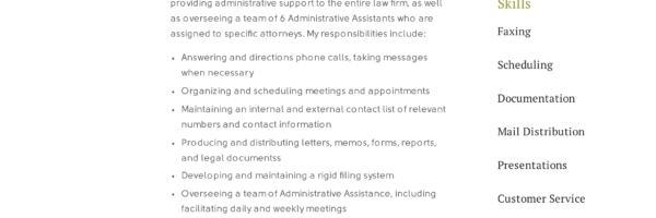 free administrative assistant resumes writing guide pdf resume summary examples sample Resume Administrative Assistant Resume Summary Examples