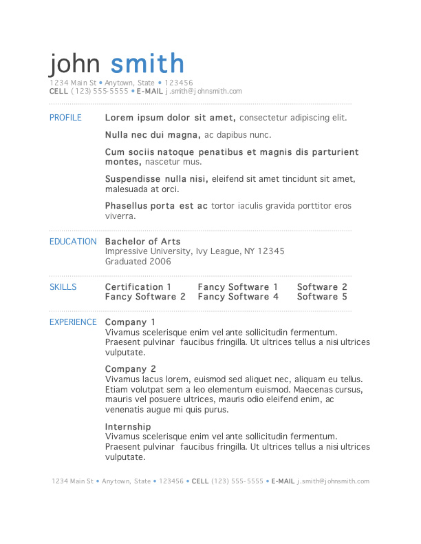 free resume templates microsoft template1 personal trainer format etl testing indeed cmt Resume Microsoft Resume Templates Free