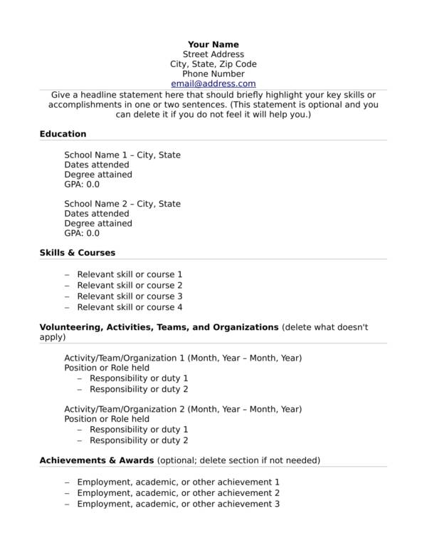 free to include in resume if you lack experience with samples relevant no template Resume Relevant Experience Resume