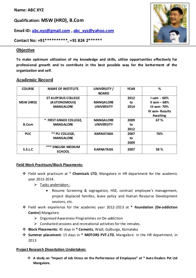freshers cv format result awaited resume using excel uh template accountant sample Resume Result Awaited Resume Format