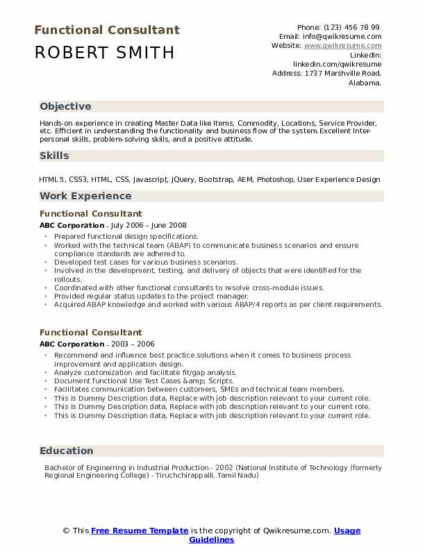 functional consultant resume samples qwikresume workday pdf entry level nurse Resume Workday Consultant Resume