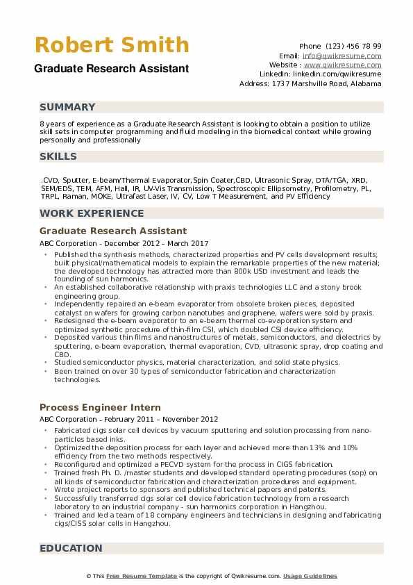 graduate research assistant resume samples qwikresume with experience pdf blank form free Resume Resume With Research Experience