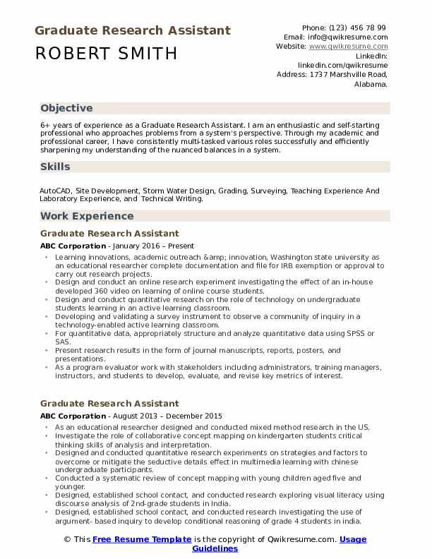 graduate research assistant resume samples qwikresume with experience pdf finance Resume Resume With Research Experience