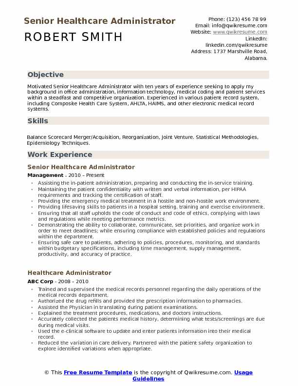healthcare administrator resume samples qwikresume objective for examples pdf fresher Resume Objective For Healthcare Resume Examples