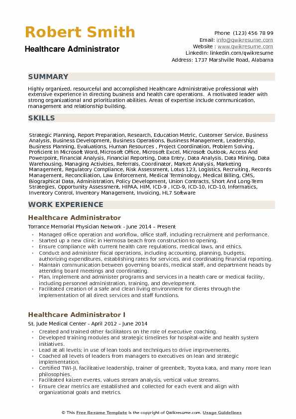 healthcare administrator resume samples qwikresume objective for examples pdf golf course Resume Objective For Healthcare Resume Examples