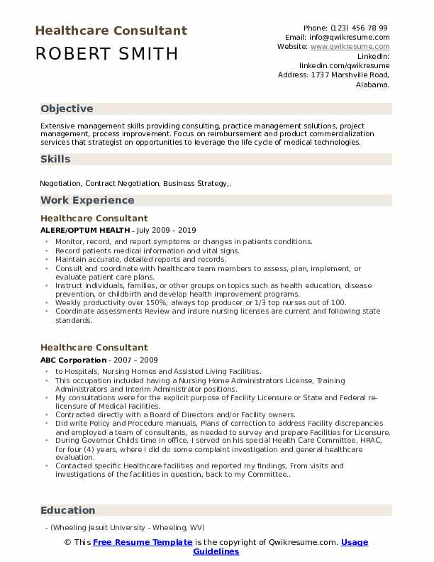 healthcare consultant resume samples qwikresume objective for examples pdf sap business Resume Objective For Healthcare Resume Examples