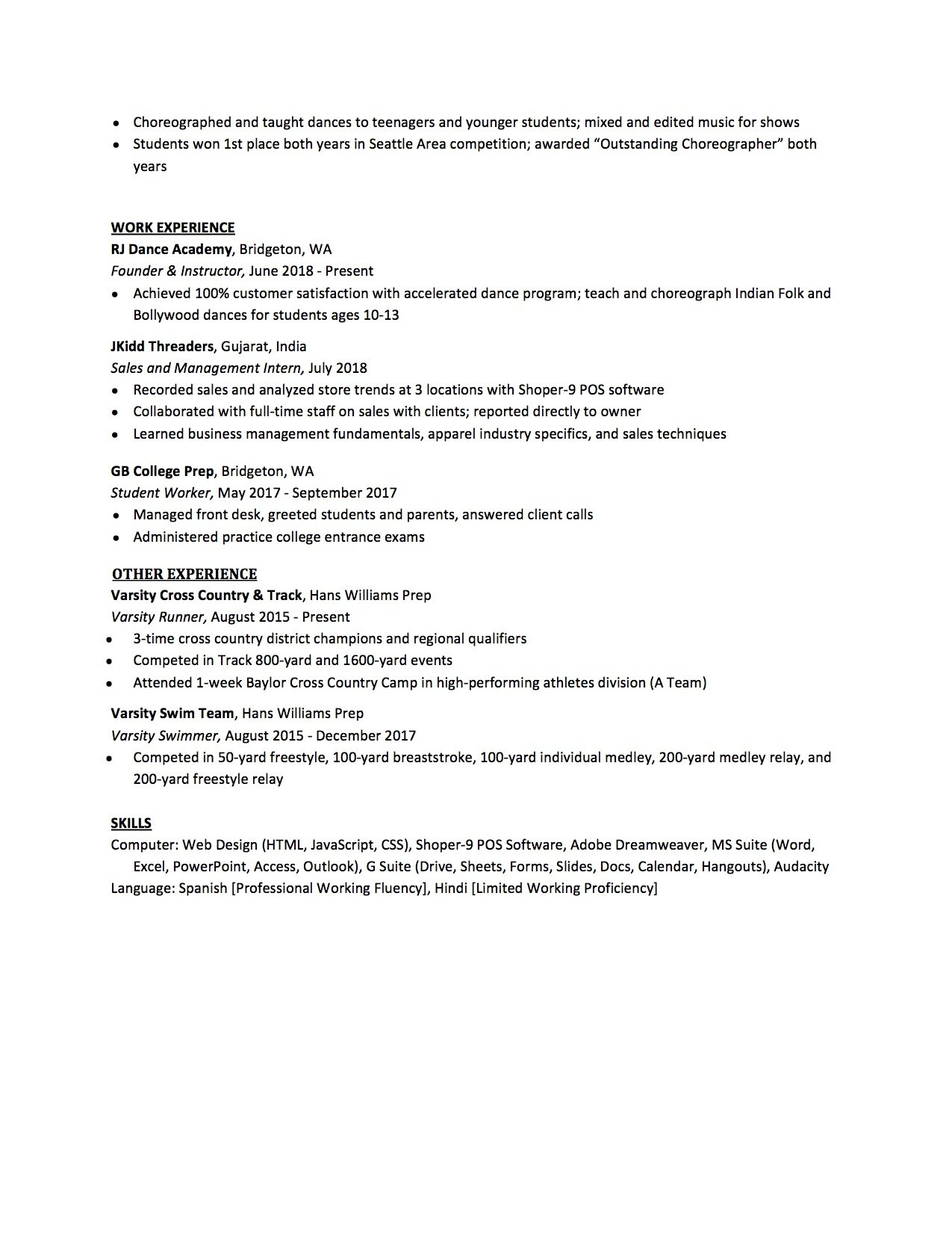 high school resume to write the best one templates included student example for college Resume High School Student Resume Example For College Application