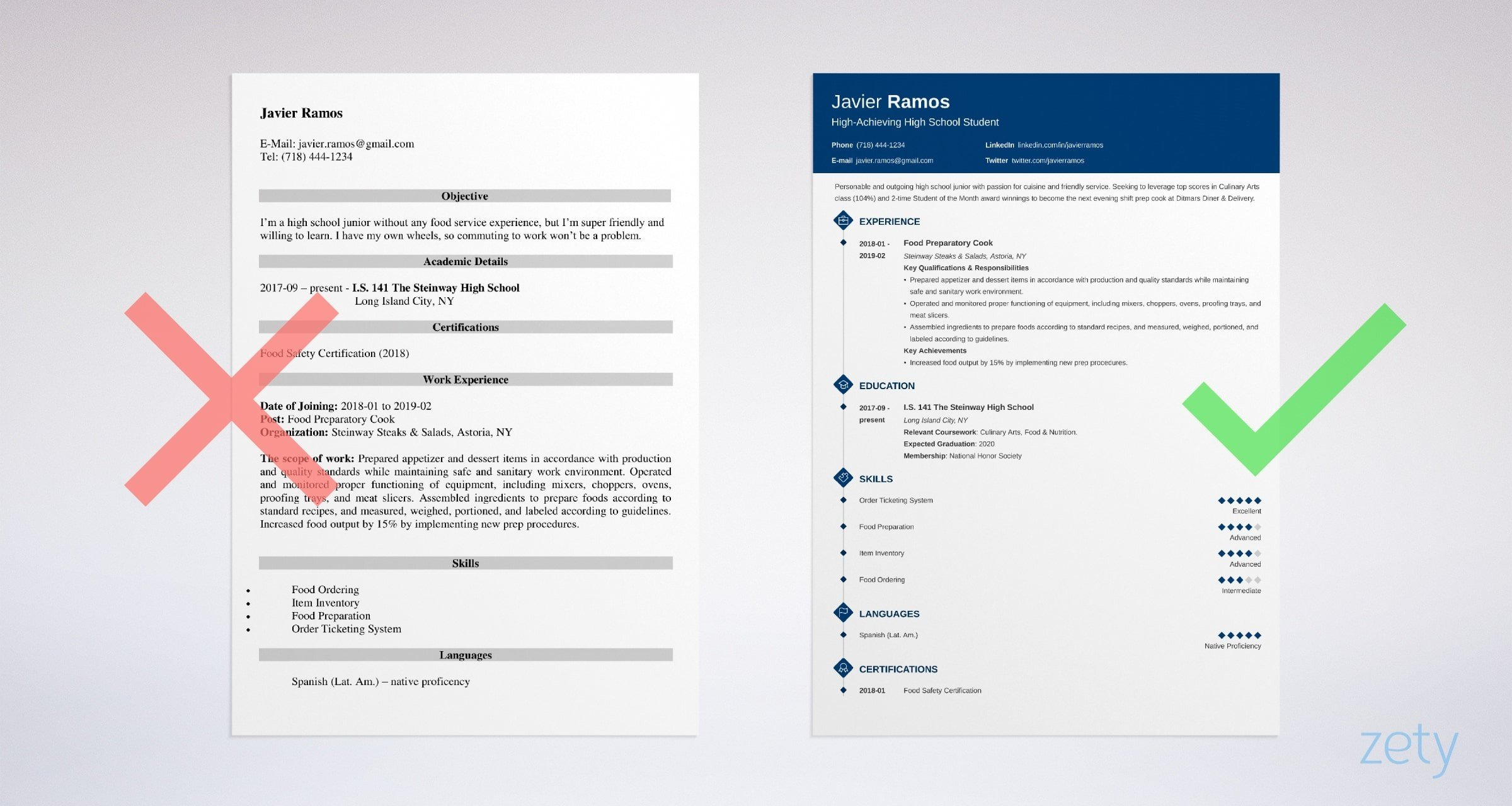 high school student resume template examples for students with experience templates Resume Resume Examples For High School Students With Experience