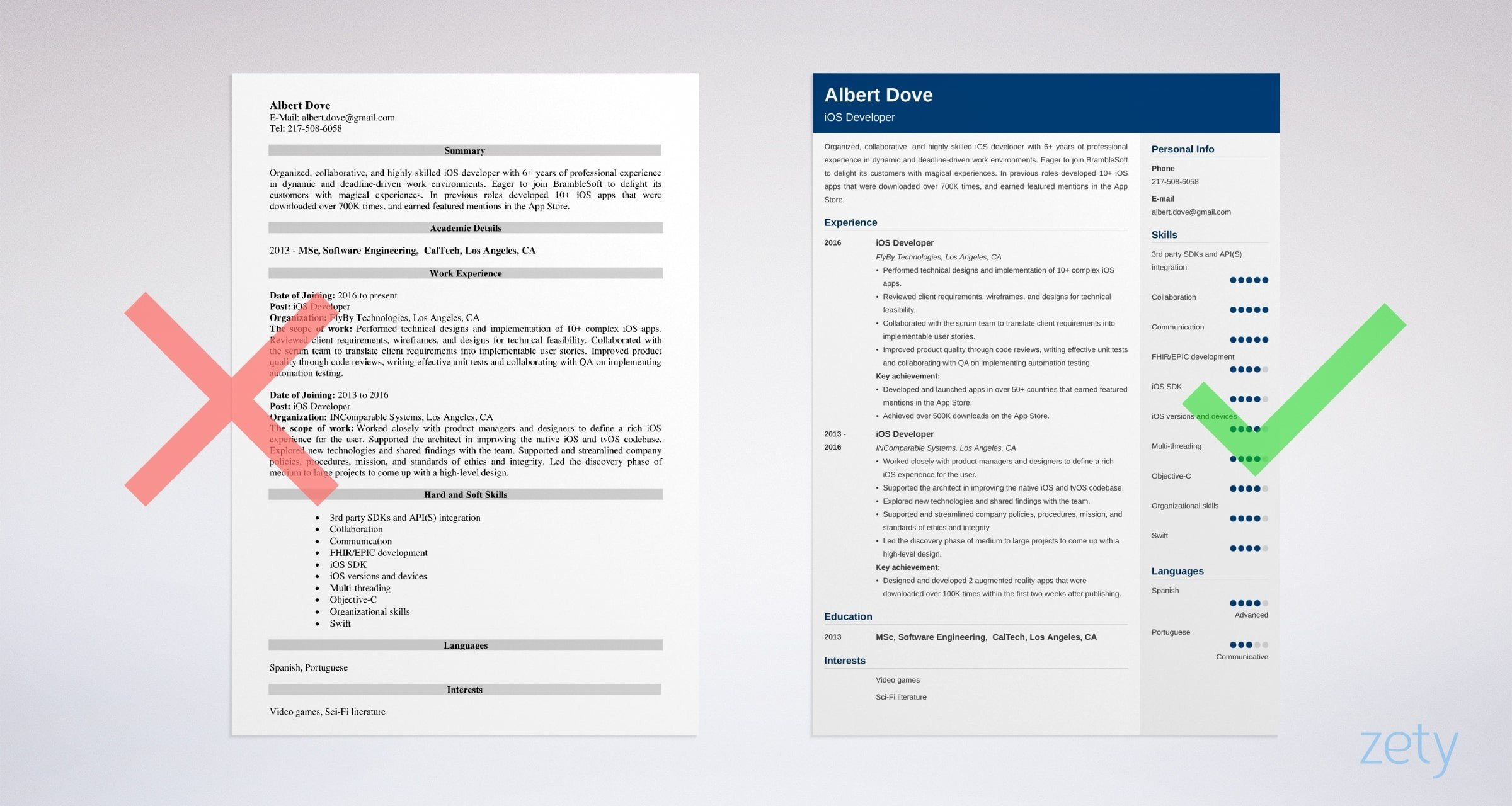 ios developer resume sample writing guide tips example big brother sister mentor Resume Ios Developer Resume Sample