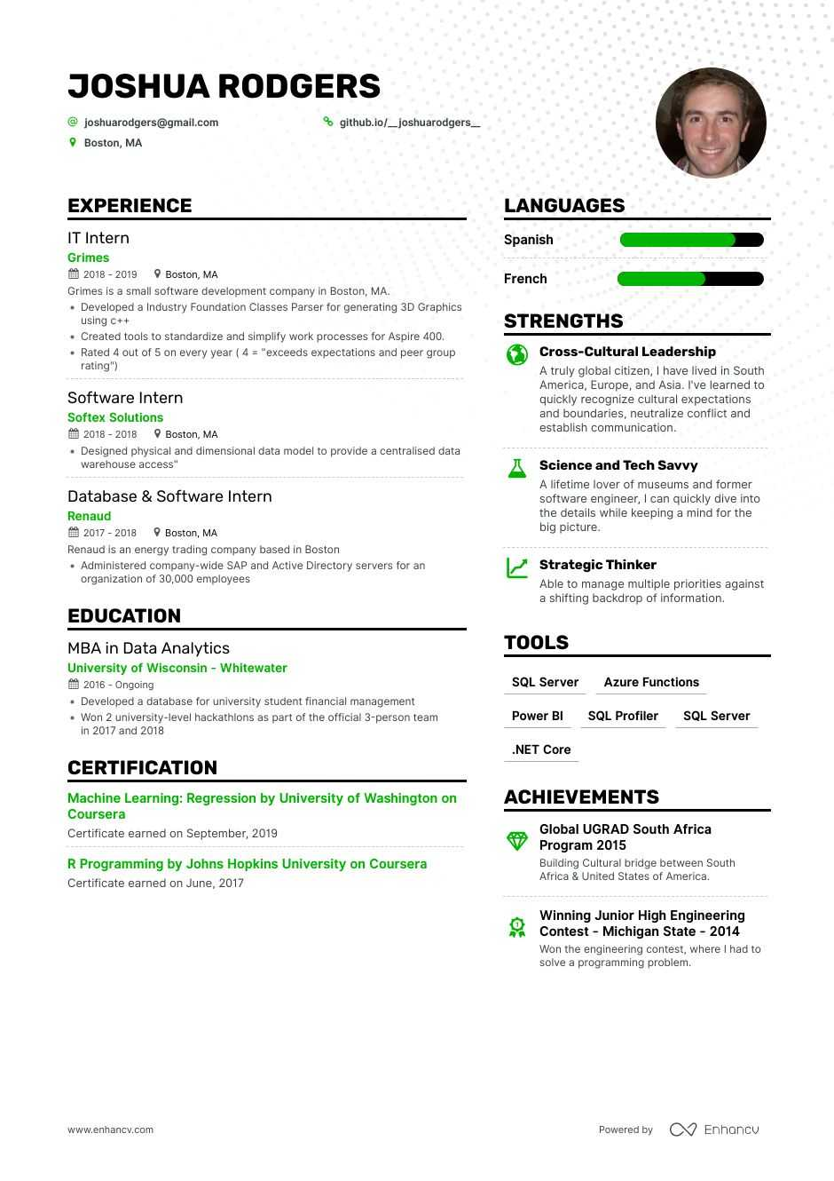 job winning computer science resume examples samples tips enhancv sample air force Resume Computer Science Major Resume Sample