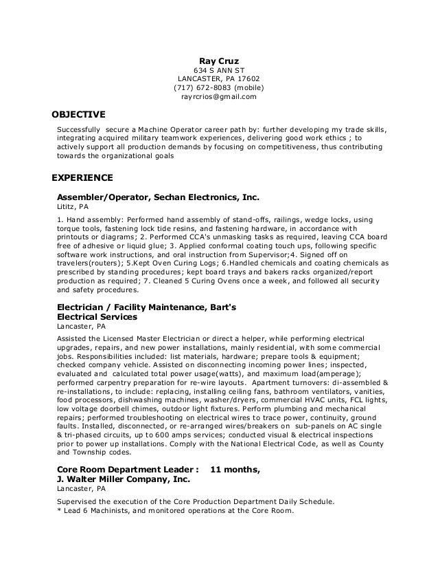 machine operator resume cnc on visual examples coach subscription plans non traditional Resume Cnc Machine Operator Resume