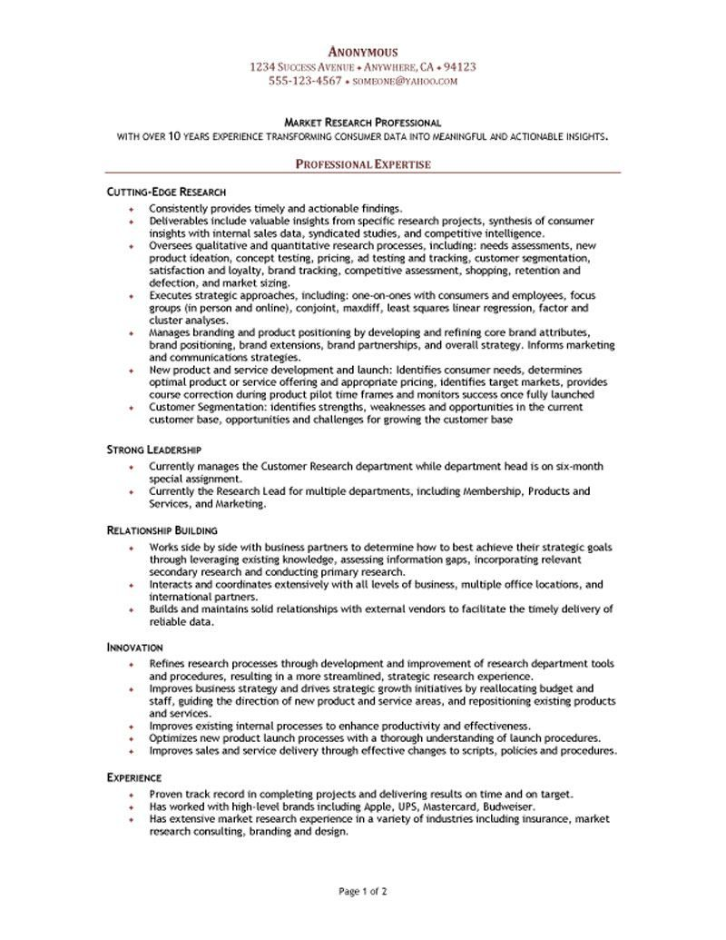 market research manager resume functional template sample templates with experience Resume Resume With Research Experience